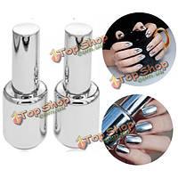 Лак зеркальный металлический блеск для ногтей Metallic 15мл