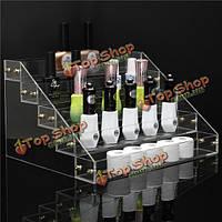 5 ярусы 40 бутылки акриловый лак для ногтей стойки дисплея стойки косметический лак организатор держатель