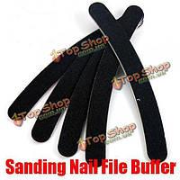 30X черный ногтей буфера полировки файл полумесяца наждачной бумагой