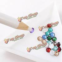 Стразы выбора карандаш ногтей воск инструмент белый камень кристалл ручка