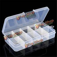 3шт съемный отсек кейс коробка для хранения пустой 10 ячеек для кончик ногтя Gems маленькие вещи