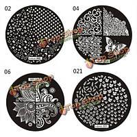 Ногтей штамп штамповка изображения шаблона плиты польские поделки