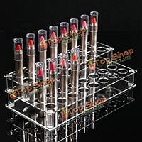 32 отверстия акриловые помады стенд держатель организатор ящик для хранения кейс для макияжа косметический дисплей