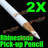 Комплект из 2 белых магических ногтей стразами пикап карандаши