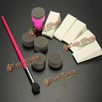 Шаблон передачи ногтей губка печать польский комплект штампа