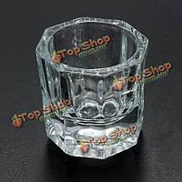 Профессиональный Нейл-арта хрустальное стекло стакана для жидкого акрила порошок