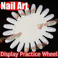 5x 3D ногтей ложные советы дисплея практике инструмент колесо