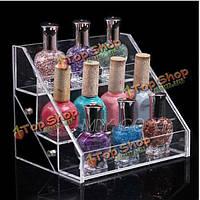 3 ярусы прозрачный акрил лак для ногтей стенд Comestic организатор макияж стойку