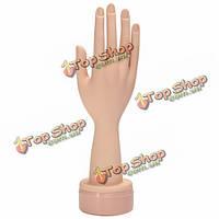 Мягкие многоразовые советы ногтей практике гель для рук ногтей отображения обучение маникюр пальцами