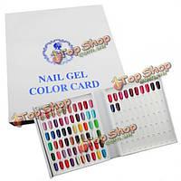 120 цветов лак для ногтей дисплей Диаграмма UV-гель цвета карты