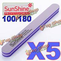 5 фиолетовый лак для ногтей губка шлифовальная файлов инструмента буфер (buffer)