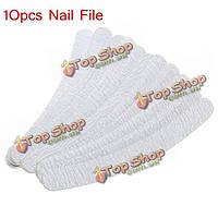 10шт шлифовальная буфер файла ногтя полирования серп инструмент наждачная педикюр