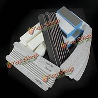 40шт ногтей шлифовальный блок набор маникюрные инструменты UV-гель