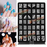 Ногтей искусство изображения пластины польская печать тиснение шаблон DIY советы дизайн