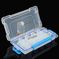 Съемная 15 отсеков организатор хранения пустой пластиковая коробка кейс ногтей горный хрусталь