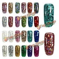 24 цвета блестящий алмаз продлить UV-гель наращивания ногтей искусство маникюра клей