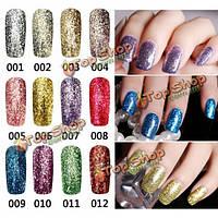 12 цветов яркий алмаз-Щепка С блестками польский великолепный впитать от Маникюр УФ гель микро зерна