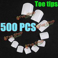 500шт белые акриловые UV-гель ложные советы ногтей искусство 3D-моделирования ног