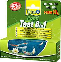 Tetra POND Test Set 6 in1 (25шт) - набор тестов для определения показателей качества воды в пруду