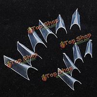 120шт четкие накладные ногти искусственные французские подсказки ногтя с коробкой