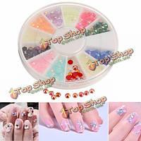 Стразы разноцветные для дизайна ногтей