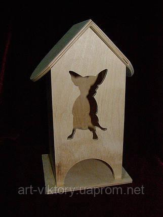 Домик для чайных церемоний любителей собак (10 х 10 х 23 см), фото 2