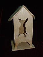 Домик для чайных церемоний любителей собак (10 х 10 х 23 см)