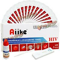 Aiike помогает самоконтроль набор комплект коллоидного золото ВИЧ домашний тест крови самостоятельно тестер одноразовый безопасный обнару