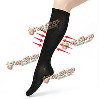 5pairs черный L/XL сжатия носки рельеф варикозная вена поддержки чулок спорта облегчение путешествия