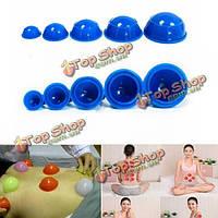 12шт чашки всасывания набор резины расслабляющий массаж баночный массаж