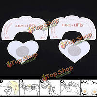 5 пар невидимых подтяжка груди бюстгальтер лента пуш-ап наклейки в форме сердца соска охватывает