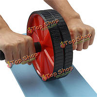 Двойной брюшной полости ролика колеса с аттенюатором упражнения фитнес-зал