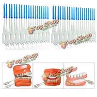 400шт межзубные между зубами зубочистки щетка эластичный массаж десен зубочисткой