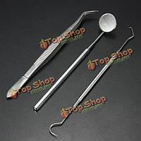 Нержавеющая сталь стоматологические инструменты рта зеркало зонд плоскогубцы комплект