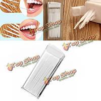 50шт портативный зубочисткой экологически чистые зубы полости рта чистка зубов щеткой выбор