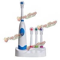 Батарейках электрический зубная щетка установить 4 насадки гигиена полости рта
