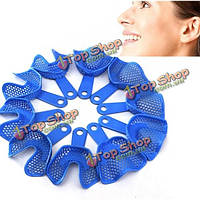 10шт пластик-сталь стоматологических оттискных ложек протез модели материалов