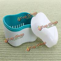 Зубной протез контейнера Box ортодонтической стоматологической синий чехол капу
