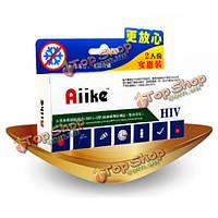 Aiike СПИД ВИЧ самотестирования набор комплект домашний тест крови коллоидного золото собственной тестер безопасного обнаружения (двойной)