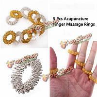 5шт акупунктуры пальцем здравоохранения массажные кольца