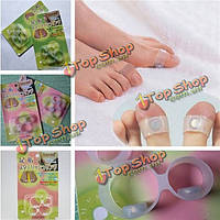 Кремния массаж ног кольцо поддерживать форму тонкий потеря веса магнитный двойной палец ноги