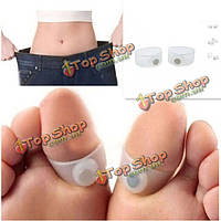 2шт кремния массаж ног кольцо поддерживать себя в форме веса для похудения потери магнитного палец