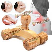 Деревянный автомобиль ролик расслабляющий массаж инструмент рефлексология лица рукой ногу назад тело терапия