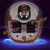 Xinfei ЖК-цифровой автоматической подогревом электрический массаж для ног ножная ванна ведро ванны ноги массажер