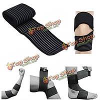 Спортивная обертка бандажа сжатия поддержки лодыжки запястья локтя колена защищает