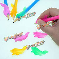 5шт силикон дельфин дети студенты карандаш держать коррекция пера написание корректор осанки