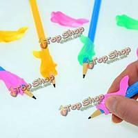 1шт силиконовая дельфин дети студенты карандаш держать коррекция пера написание корректор осанки