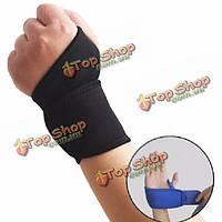 Регулируемая портативный эластичный запястье скобка спортивный браслет подходят как левый и правый большой палец