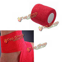 4шт красные нетканое клейкие эластичные поддерживающие медицинские палец руки бандажные ленты