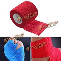 2шт красный нетканый клейкая эластичные поддерживающие медицинские палец руки бандажные ленты